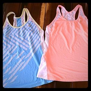 Set of two New Balance Lightning Dry Active Tanks